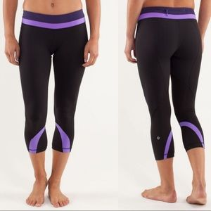 Lululemon Run Inspire Crop II Power Purple